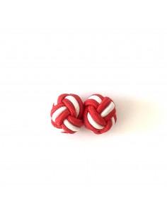 Passementerie Boutons de manchette Rouge et Blanc