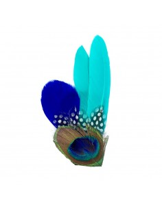 Grand Zozo Turquoise - Bibi plumes Séraphine Bijoux - Comptoir Doré