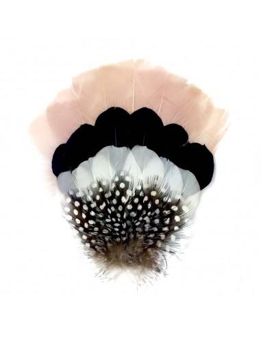 Grand Zozo Nude - bibi à plumes - Séraphine Bijoux - Comptoir Doré