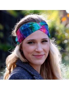 Bandeau Rainbow - headband turban arc en ciel - Comptoir Doré