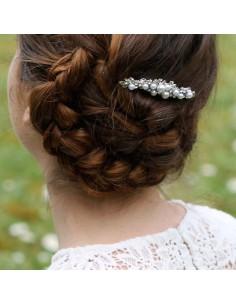 Peigne Kate - peigne mariée strass perles - Comptoir Doré