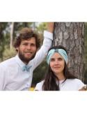 Bandeau Lino Ciel - headband lin bleu ciel - Comptoir Doré