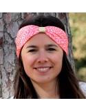 Bandeau Donna Fluo - headband brodé rose fluo - Comptoir Doré
