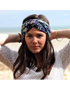 Bandeau Cleo - headband lycra triple tour - Comptoir Doré