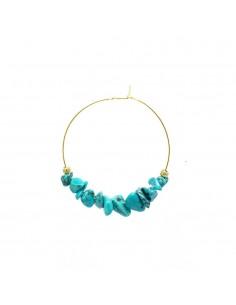 Boucles d'oreilles Amandine Turquoise - boucles d'oreilles corail turquoise - Comptoir Doré