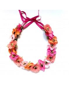 Couronne de fleurs Aganippe Corail