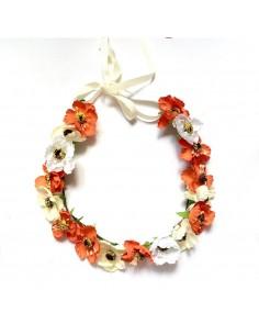 Couronne de fleurs Aganippe Orange