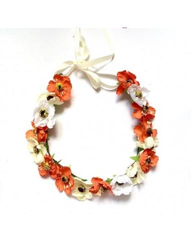 Couronne de fleurs Aganippe Orange - Séraphine Bijoux - Comptoir Doré