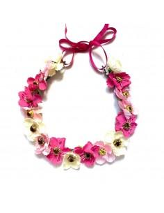 Couronne de fleurs Aganippe Rose