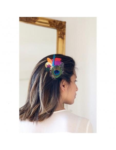 Grand Zozo Ara - bibi à plumes - Séraphine Bijoux - Comptoir Doré