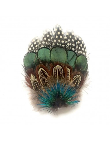Grand Zozo Multirang - bibi à plumes - Séraphine Bijoux - Comptoir Doré