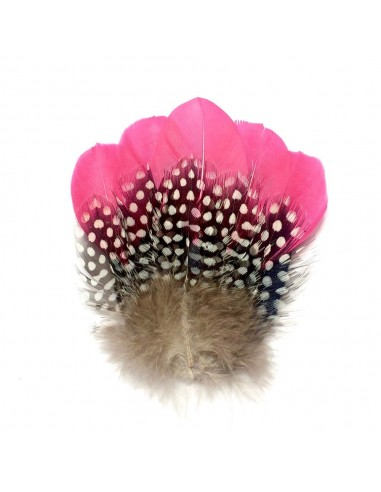 Grand Grand Zozo Rose - Bibi plumes Séraphine Bijoux - Comptoir Doré Bleu