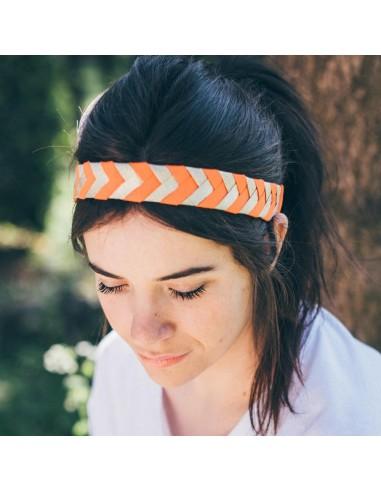 Bandeau Antoinette Orange - Alma Créations - Comptoir Doré