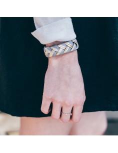 Bracelet Réversible Gris