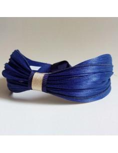 Bandeau Dastar Bleu Roi - Les Créations de Juliette - Comptoir Doré