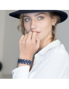 Bracelet Réversible Bleu Marine x Doré - Alma Créations - Comptoir Doré
