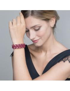 Bracelet Réversible Bordeaux x Doré