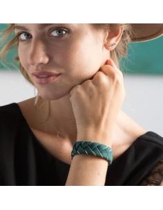 Bracelet Réversible Vert x Doré - Alma Créations - Comptoir Doré