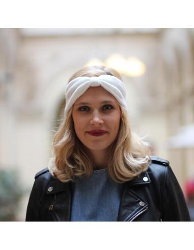 Bandeau Moon - headband laine blanc - Comptoir Doré