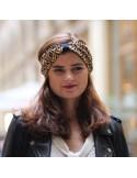 Bandeau Cruz - headband marine et moutarde - Comptoir Doré