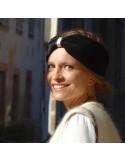 Bandeau Dastar Velours Noir - Les Créations de Juliette - Comptoir Doré