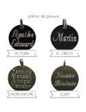 Jonc fin médaille à graver - Soiz Bijoux - Comptoir Doré