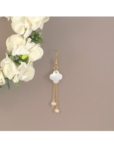 Boucles d'oreilles Lucky - Collection Mariage - MdeB Créations - Comptoir Doré