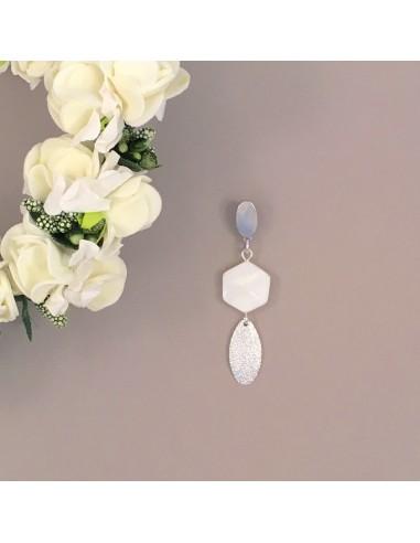 Boucles d'oreilles Thaïs - Collection Mariage - MdeB Créations - Comptoir Doré