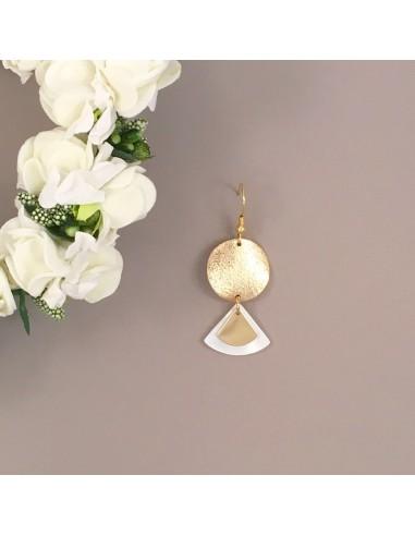 Boucles d'oreilles Moon - Collection Mariage - MdeB Créations - Comptoir Doré