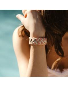 Bracelet Réversible Rose x Doré - Alma Créations - Comptoir Doré