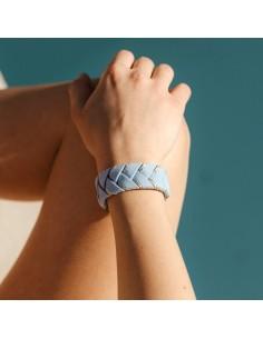 Bracelet Réversible Bleu Ciel x Doré - Alma Créations - Comptoir Doré