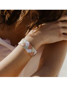 Bracelet 3 Brins Rose x Doré