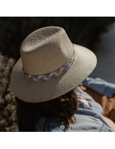 Capeline paille Bleue - Alma Créations - Comptoir Doré
