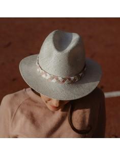 L'uni Tresse Rose - panama femme - Alma Créations - Comptoir Doré