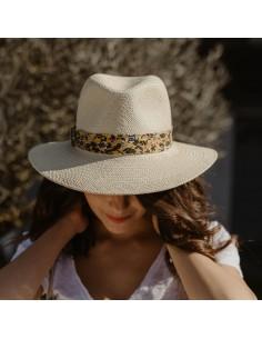 Capeline Fleurie - chapeau paille femme - Alma Créations - Comptoir Doré