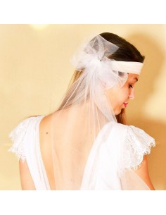 Bandeau Dastar Aimez - headband mariée - Les Créations de Juliette - Comptoit Doré