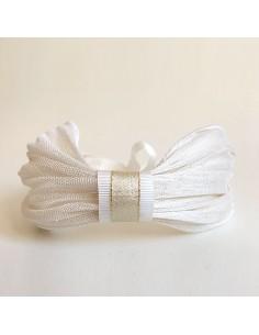Bandeau Dastar Blanc Crème