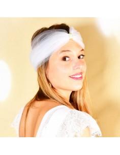 Bandeau Dastar Dansez - Blanc - Les Créations de Juliette - Comptoir Doré