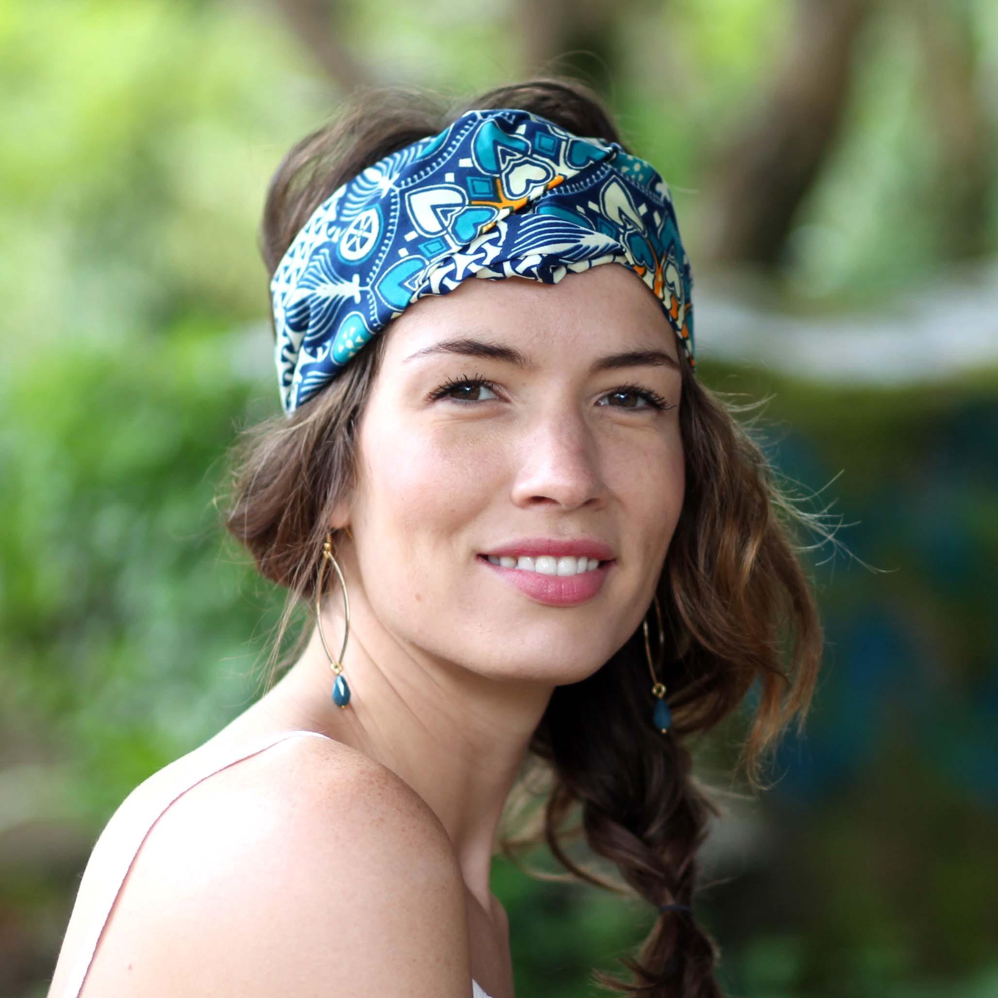 dernier style de 2019 répliques nouveau sélection Bandeau Wax Saphir - headband turban en tissu africain ...
