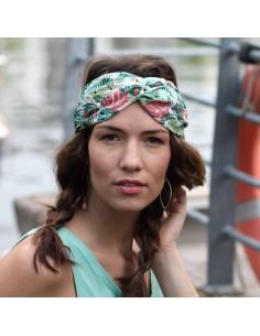 Bandeau Eden - headband tissu tropical - Comptoir Doré