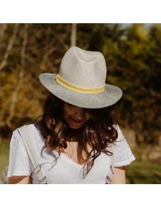 Le Bicolore Jaune n°1 - panama femme - Alma Créations - Comptoir Doré