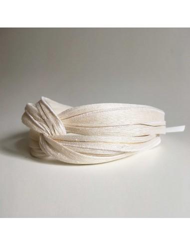 Bandeau Dastar Enlacez-vous - Blanc Crème - Les Créations de Juliette - Comptoir Doré