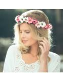 Couronne de fleurs Aganippe Rose - Séraphine Bijoux - Comptoir Doré