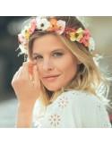 Couronne de fleurs Aganippe Multicolore - Séraphine Bijoux - Comptoir Doré