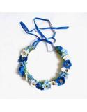 Couronne de fleurs Aganippe Bleu - Séraphine Bijoux - Comptoir Doré