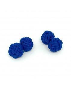 Boutons de manchette passementerie bleu roi  Comptoir Doré