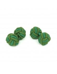 Boutons de manchette passementerie duo de verts - Comptoir Doré