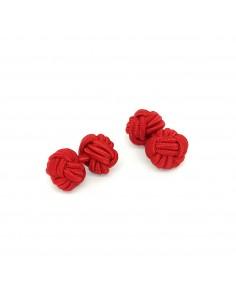 Boutons de manchette passementerie Rouge - Comptoir Doré