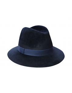 Chapeau Imperméable Bleu Marine - chapeau feutre femme - Alma Créations - Comptoir Doré