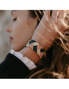 Bracelet Vert x Rose - Alma Créations - Comptoir Doré